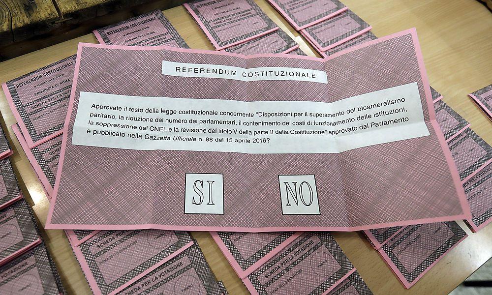 Referendum in Italien begonnen: Wahllokale seit 7 Uhr offen
