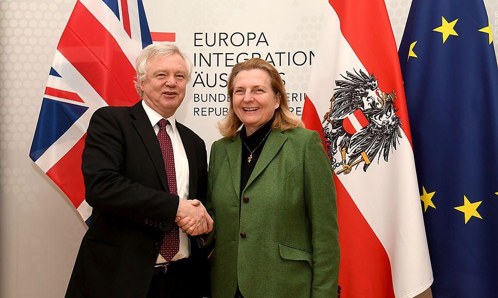 Brexit-Minister David Davis in Wien