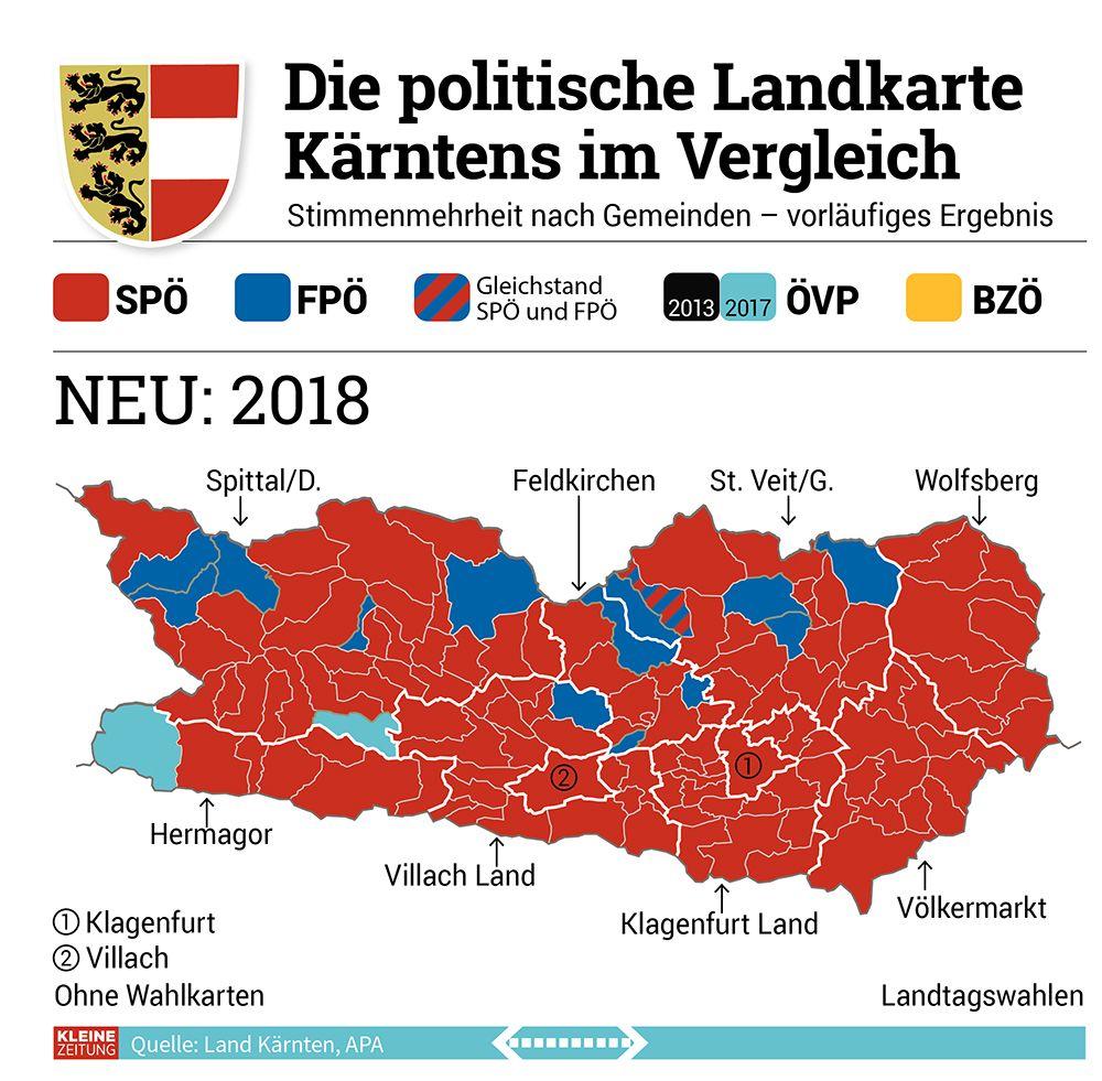 Vorher Nachher Die Politische Landkarte Karntens Im Vergleich