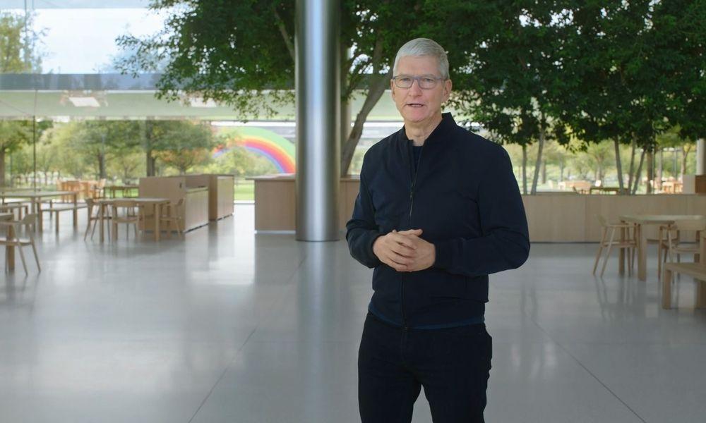 Apple-Boss Tim Cook bei der Präsentation