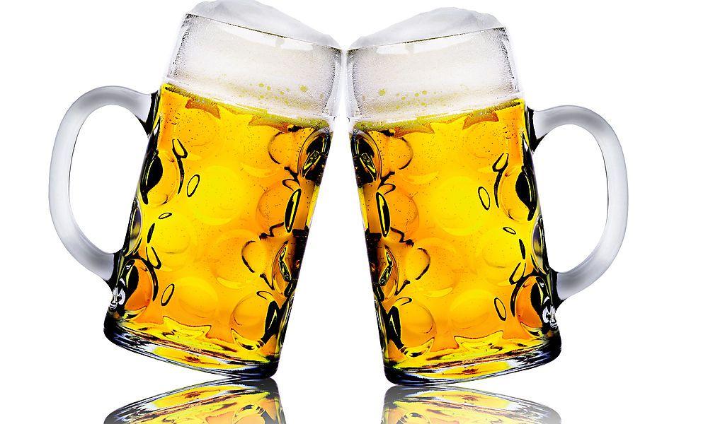 essen bierflasche kopf