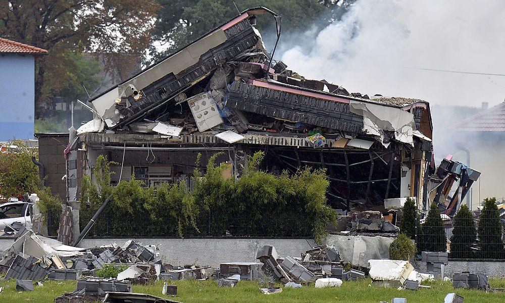 Hollabrunn: Leck in Gas-Zuleitung löste Explosion aus