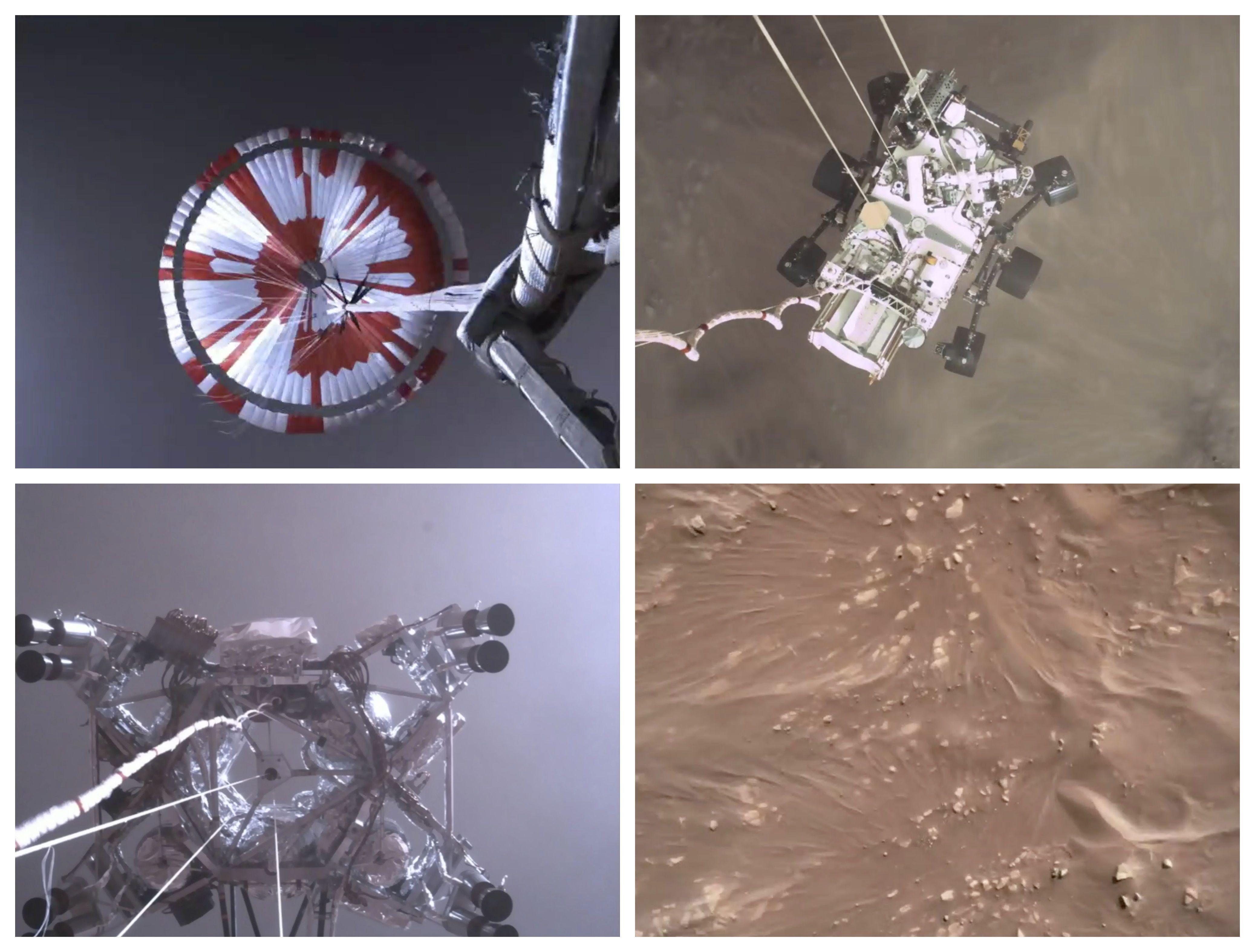 """Die bangen, entscheidenden Minuten am 18. Februar, als """"Perseverance"""" die Mars-Oberfläche ansteuerte"""
