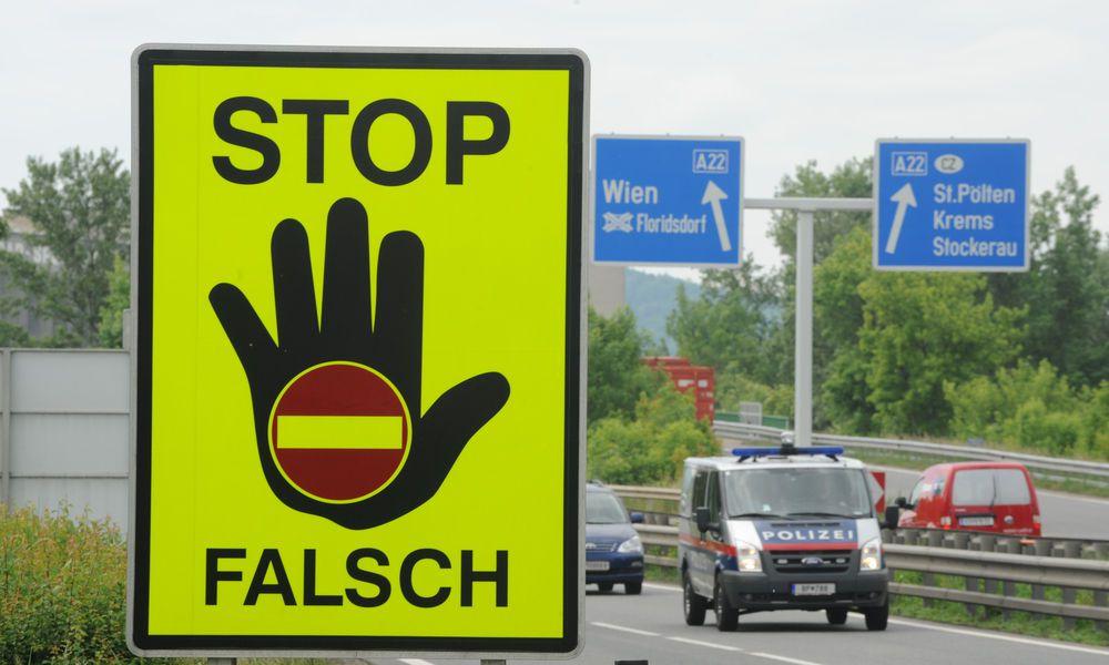 Irrtum bemerkt: Polizei eskortierte Geisterfahrerin nach Hause
