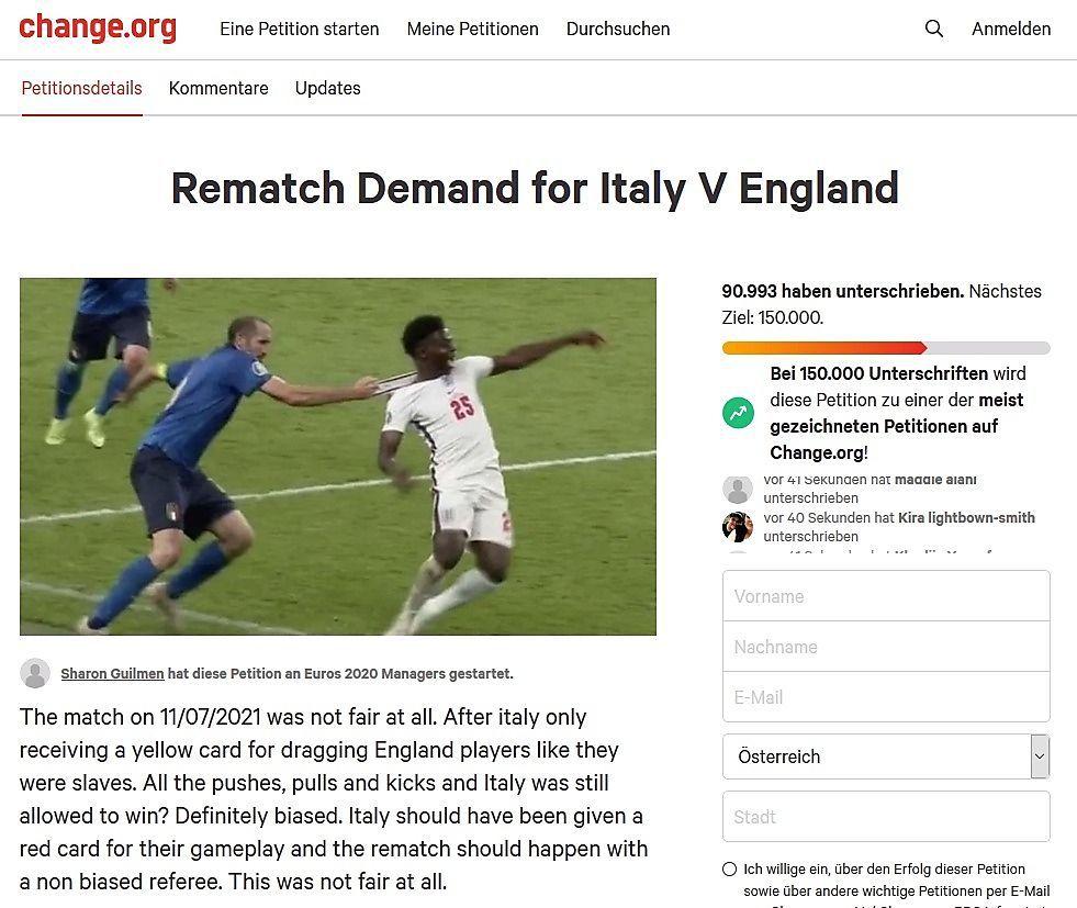 Fans fordern Neuaustragung des EM-Finales