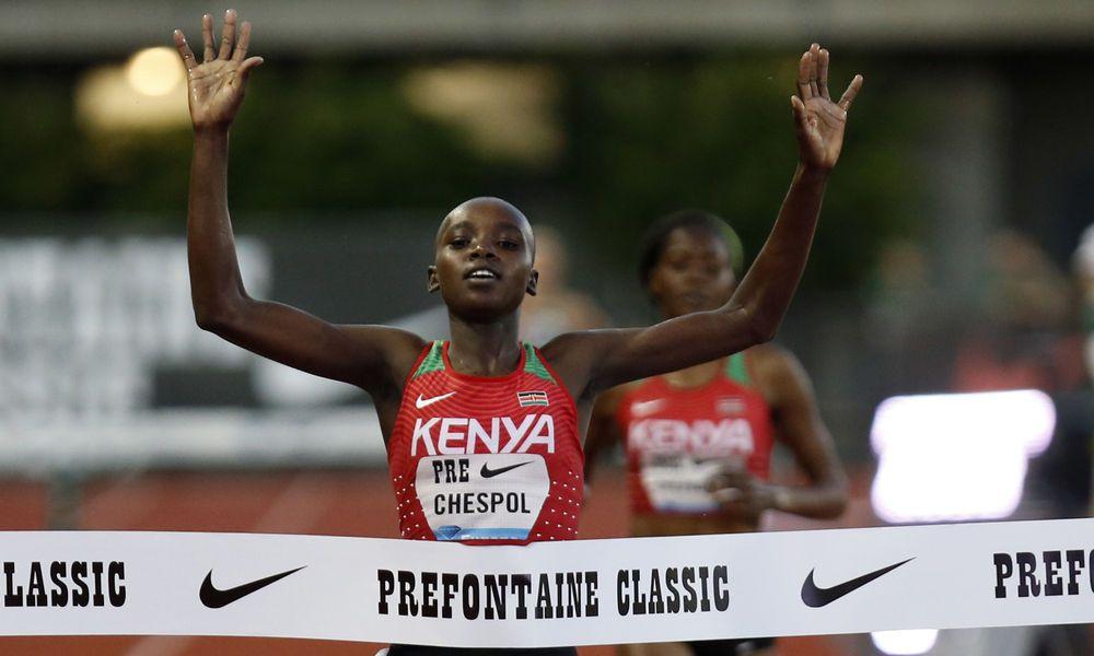 18-jährige Kenianerin mit zweitschnellster Hinderniszeit