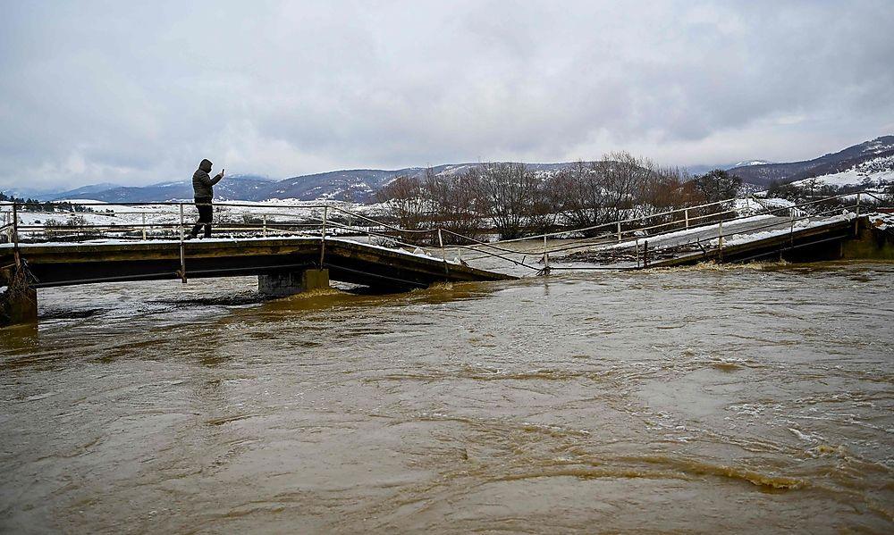 Überflutungen im Kosovo und in Albanien