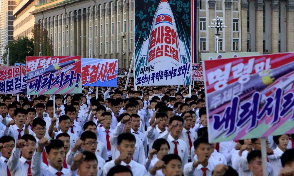 Massenkundgebung gegen die USA in Nordkorea