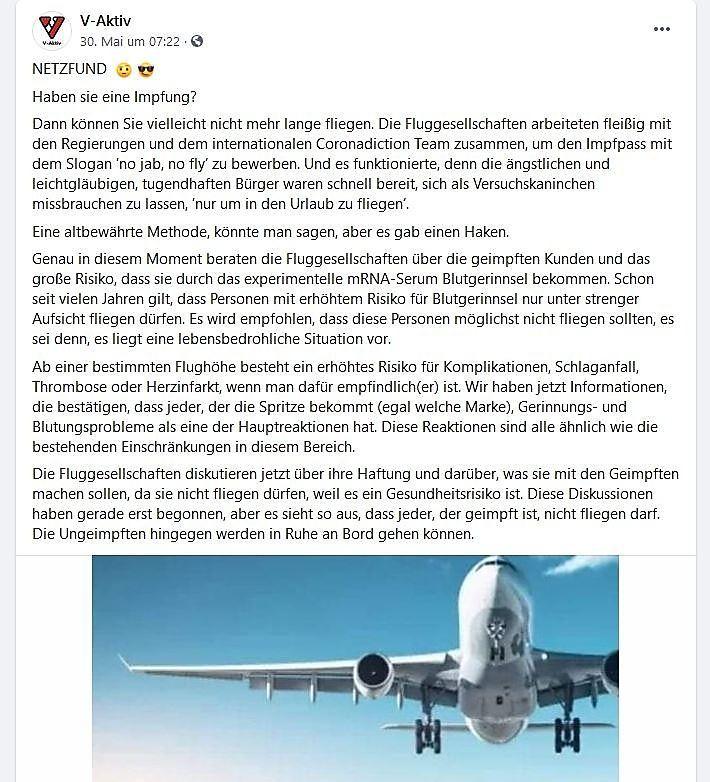 Kein Flugverbot für Corona-Geimpfte