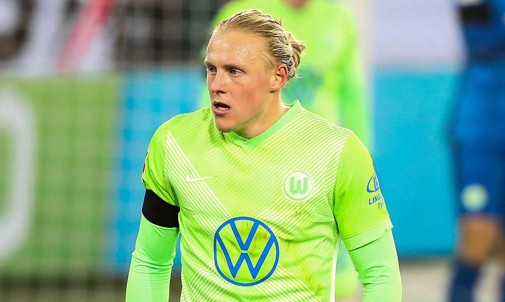Xaver Schlager (VfL Wolfsburg,24) - 1 Fussball Bundesliga Saison 2020-2021 Punktspiel VfL Wolfsburg vs. Werder Bremen in