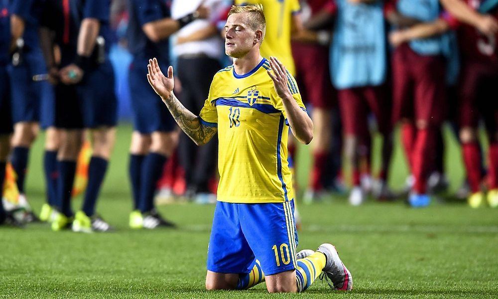 June 30 2015 Prag Czech Republic 150630 Sweden s John Guidetti in a football match U21 U 2