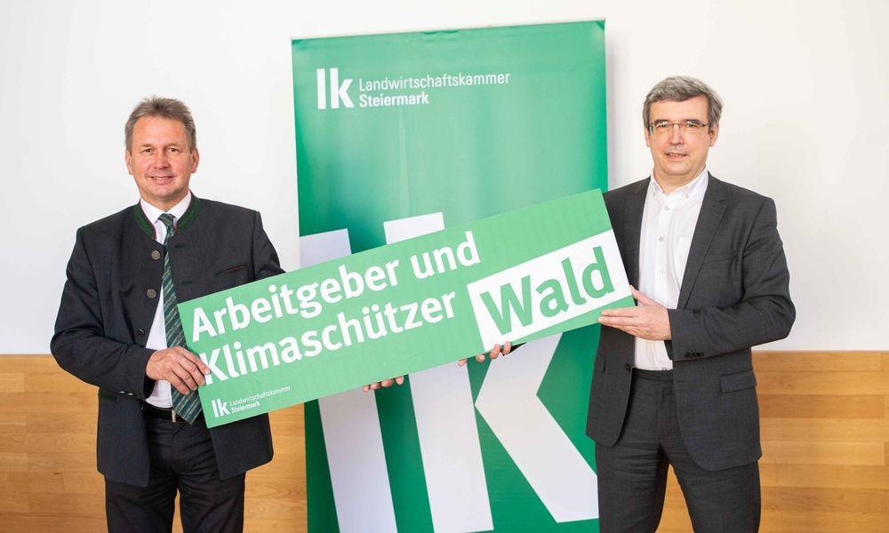 Franz Titschenbacher (LWK) und Franz Sinabell (Wifo)