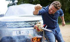 Jamie Oliver und sein maßgeschneiderter Land Rover Discovery / Bild: JLR