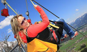 Eine ganz neue Perspektive - Zipline am Stoderzinken / Bild: Zipline/Huber