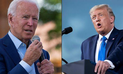 Joe Biden und US-Präsident Trump