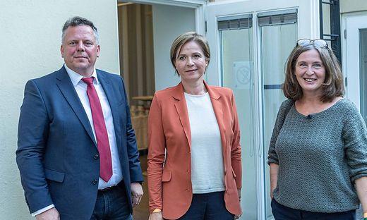 Michael Ehmann (SPÖ), Judith Schwentner (Grüne) und Elke Kahr (KPÖ)