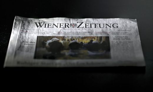 FORTBESTAND DER 'WIENER ZEITUNG' NICHT GESICHERT
