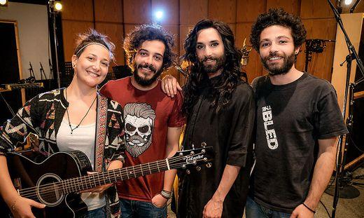 Conchita und syrische Band Basalt fuer ORF beim ?New European Songbook?