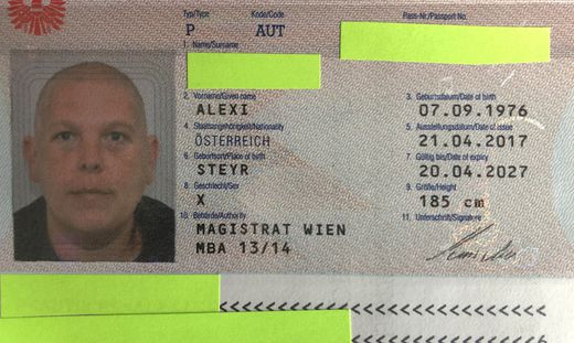 Der Reisepass von Alex Jürgen