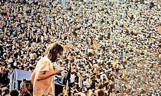 Rund 500.000 Menschen strömten 1969 zum Woodstock-Festival