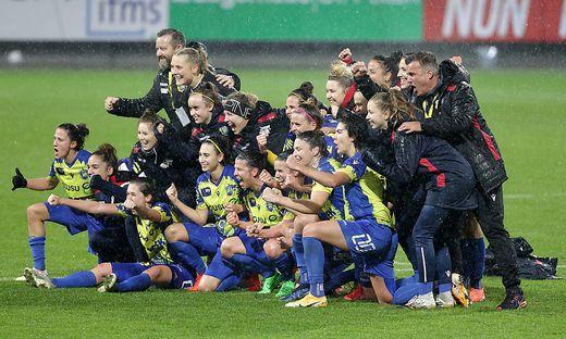 Auch im Sechzehntelfinale wollen die Damen des SKN St. Pölten triumphieren
