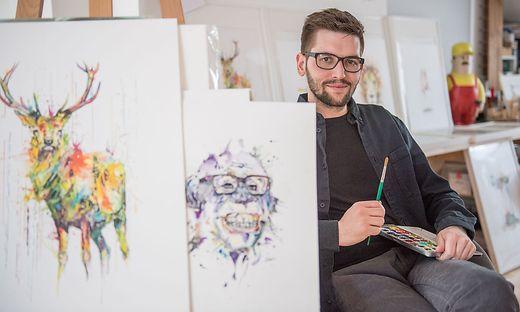 Philipp Grein will als Künstler und Weinhändler durchstarten