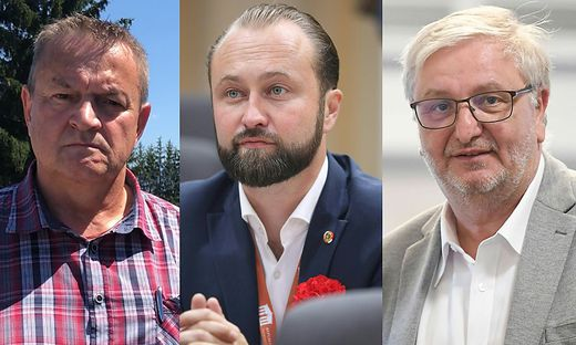 Michael Leitner, Max Lercher und Christoph Matznetter