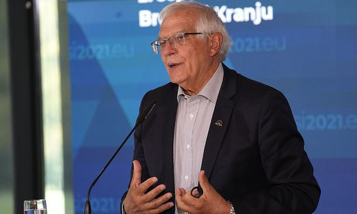 Gespräche mit den neuen Machthabern, EU-Präsenz aufbauen: Hoher Repräsentant EU-Außenbeauftragter Josep Borrell in Slowenien