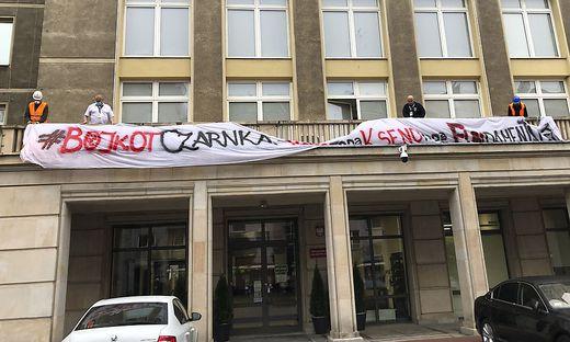 Klinikprotest in Warschau