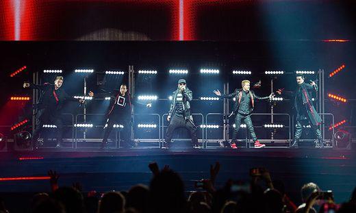 Die Backstreet Boys Nick Carter , Howie Dorough, Alexander James McLean, Brian Littrell und Kevin Richardson