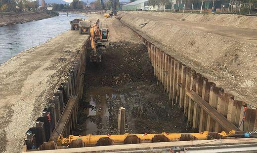 Der Speicherkanal entlang der Mur