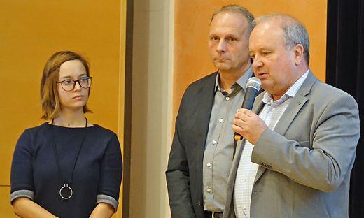 Hannah Feichtinger, Andreas Pajduch und Rudolf Hofbauer (v. l.) präsentierten die Pläne