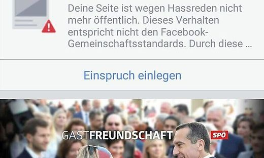 Offline, die Facebookseite der Steirer-SP.