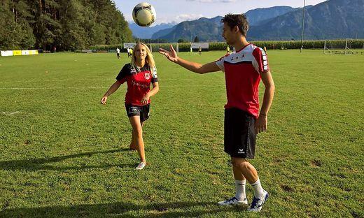 Die Miss Kärnten zeigte Daniel Kulter von den Sportfreunden Rückersdorf schon einige ihrer Tricks