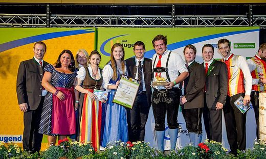 Die Sieger des Goldenen Löwen und somit die aktivste Ortsgruppe Kärntens: Landjugend Krappfeld