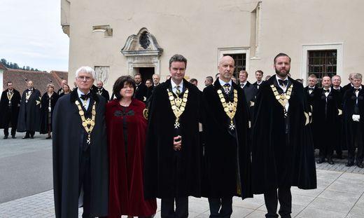 Auch Kaiser-Enkel Georg Habsburg-Lothringen kam gestern nach Schloss Seggau
