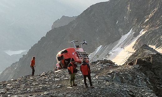 Der Rettungshubschrauber stürzte nahe der Adlersruhe ab