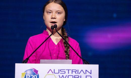 Greta Thunberg beim R20 in Wien