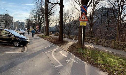 Umleitung für Radfahrer