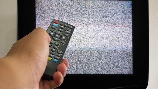 Im TV-Gerät ist es zappenduster