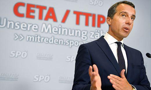 Bundeskanzler Kern will CETA nun breiter diskutieren