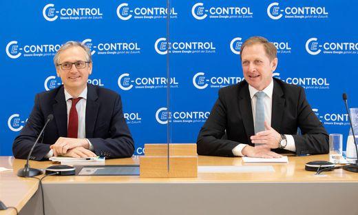 Das neue E-Control-Vorstandsduo Wolfgang Urbantschitsch und Alfons Haber