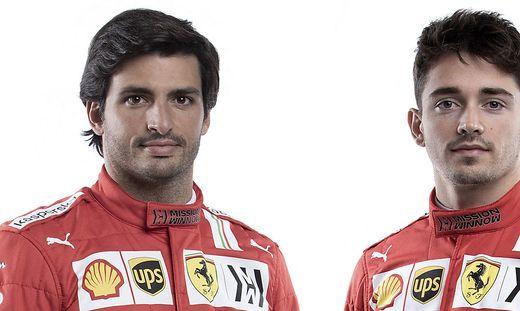 Carlos Sainz junior und Charles Leclerc