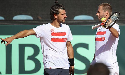 Oliver Marach (rechts) bestreitet heute mit Jürgen Melzer das Doppel