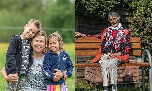 Zwei Frauen erzählen, was für sie Muttersein bedeutet: Katrin Hubmann (40) und Henriette Huber (90)