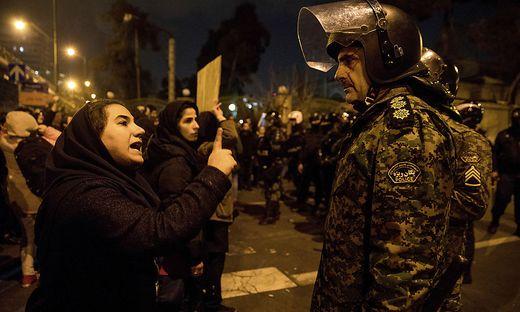 Proteste gegen das Regime in Teheran