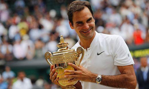2017 gewann Federer zuletzt in Wimbledon