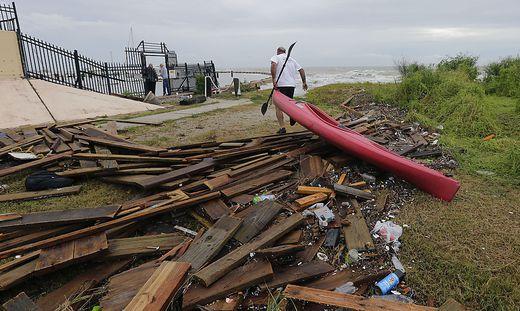 """""""Hanna"""" war am Wochenende in Texas auf Festland getroffen und hatte unter anderem in mehr als 250.000 Haushalten den Strom ausfallen lassen"""