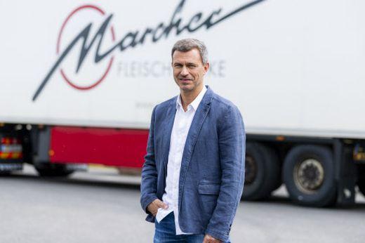 Norbert Marcher leitet das größte Fleischereiunternehmen Österreichs mit Firmensitz in Villach