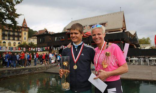 So sehen Sieger aus: Tamas Bence und Ute Simma - sie gewannen die Goldene Rose vom Wörthersee